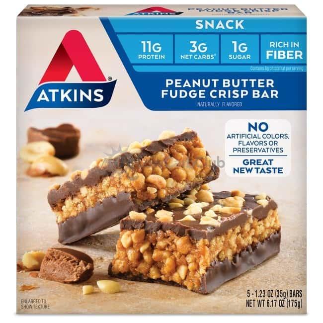 Atkins Usa Snack Peanut Fudge Crisp Doos