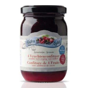 Suikervrije Jam 4 Vruchten Extra Light Rabeko