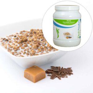 Delinutri Koolhydraatarme Muesli Chocolade Caramel Voordeelpot1