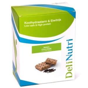 Delinutri Koolhydraatarme Wafels Chocolade Doosje