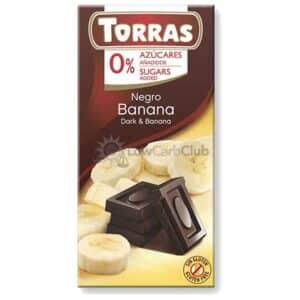 Suikervrije Chocoladetablet Puur Banaan Torras