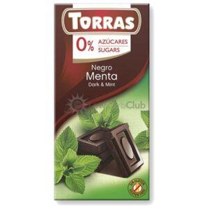 Suikervrije Chocoladetablet Puur Mint Torras