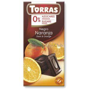 Suikervrije Chocoladetablet Puur Sinaasappel Torras