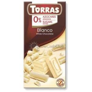Suikervrije Chocoladetablet Wit Torras