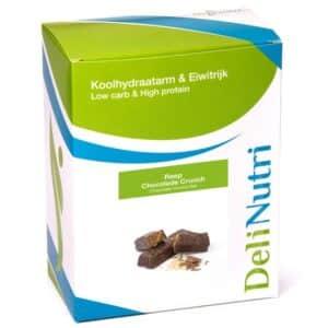 Delinutri Koolhydraatarme Reep Chocolade Crunch Doosje