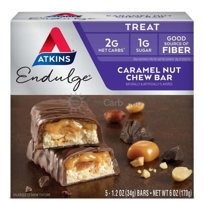 Atkins Usa Endulge Caramel Nut Chew Doos