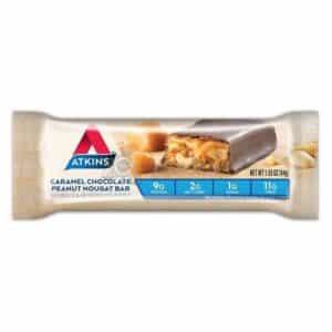 Atkins Usa Snack Caramel Chocolate Peanut Nougat Bar2