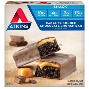 Atkins Usa Snack Caramel Double Chocolate Crunch Doos