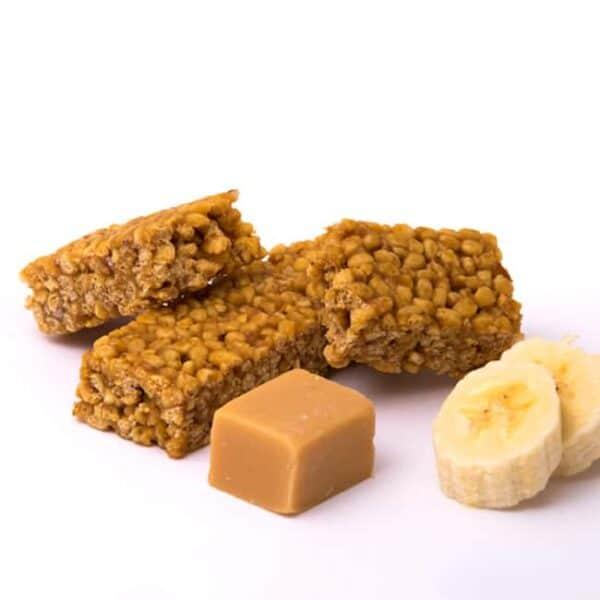 Delinutri Koolhydraatarme Reep Crunchy Banaan Caramel