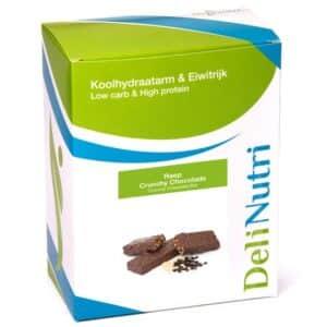 Delinutri Koolhydraatarme Reep Crunchy Chocolade Doosje
