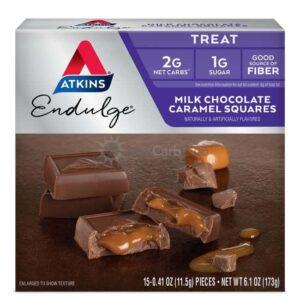 Atkins Usa Endulge Milk Chocolate Caramel Squares Doos