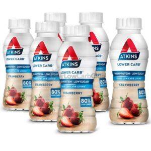 Atkins Shakes Strawberry Rtd 6 Stuks