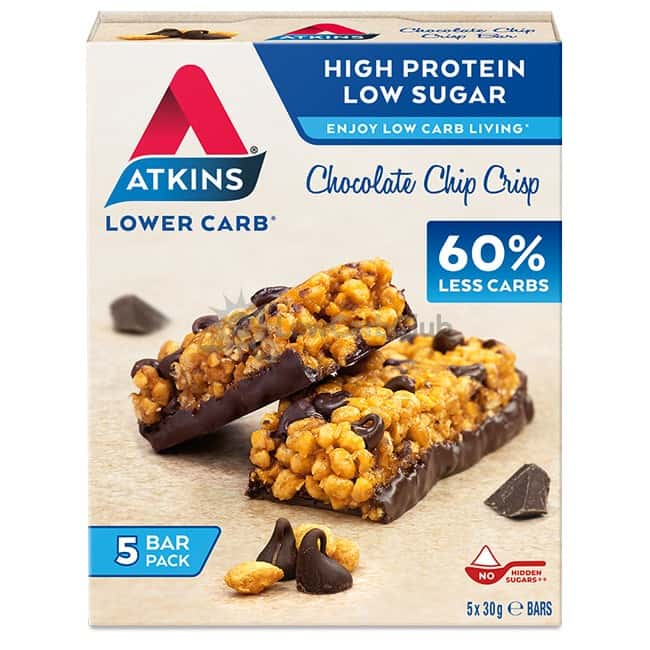 Atkins Reep Chocolate Chip Crisp Doosje