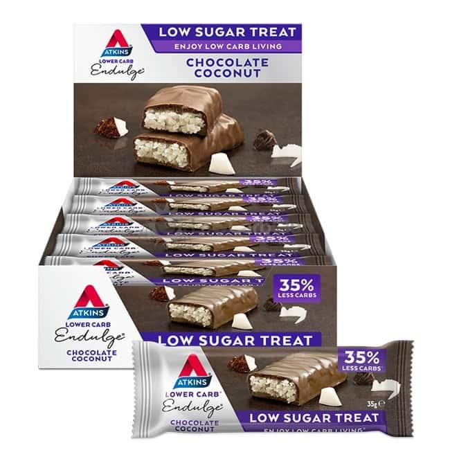 Atkins Repen Endulge Chocolate Coconut Doos