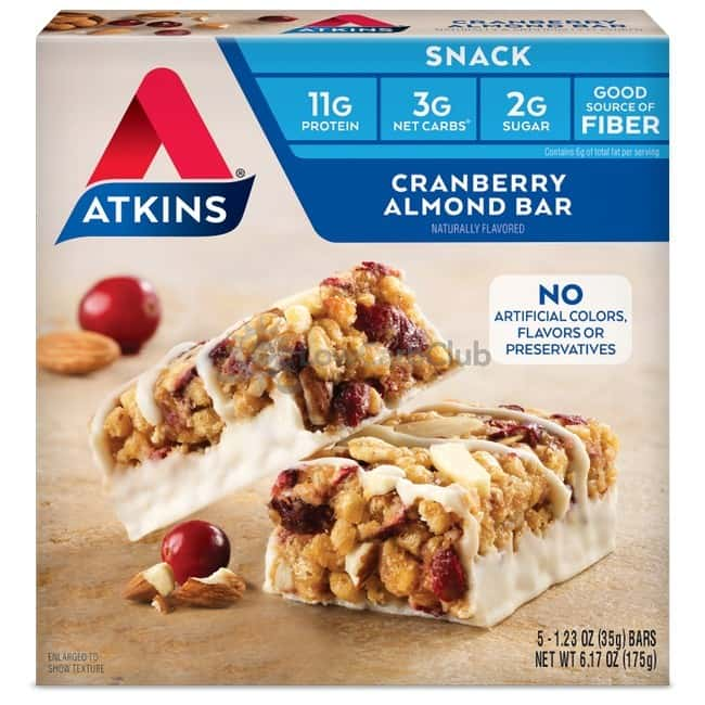 Atkins Usa Snack Cranberry Almond Doos