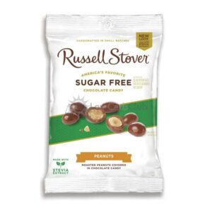 Suikervrije Chocolade Chocolate Covered Peanuts Russell Stover