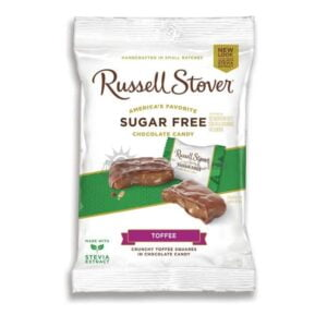 Suikervrije Chocolade Toffee Squares Russell Stover