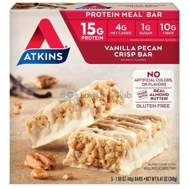 Atkins Usa Meal Vanilla Pecan Crisp Doos
