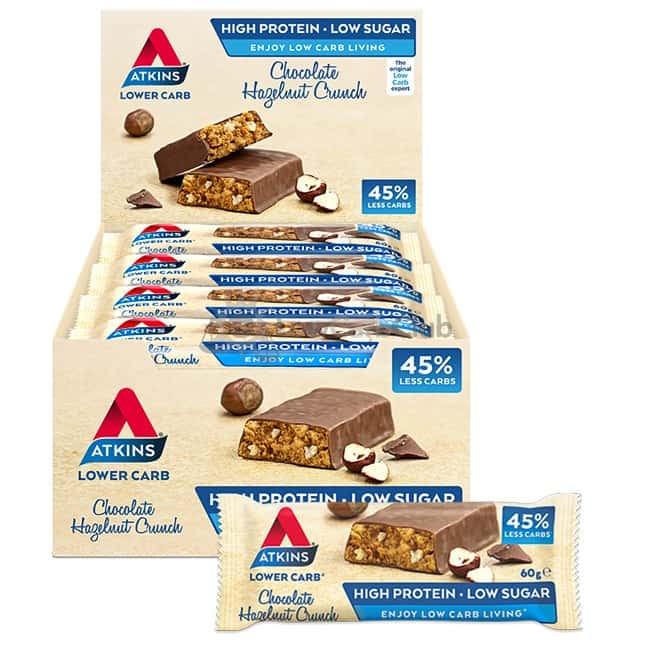 Atkins Repen Chocolate Hazelnut Crunch Doos