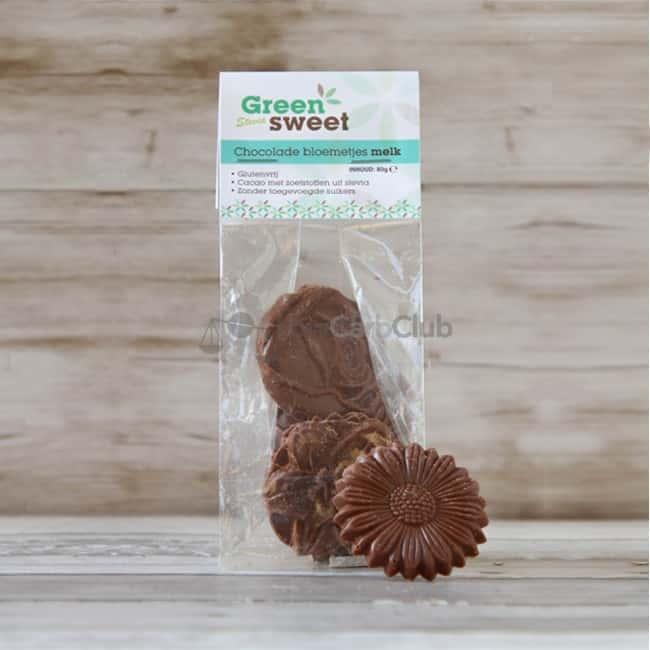 Greensweet Stevia Chocolade Bloemetjes Melk