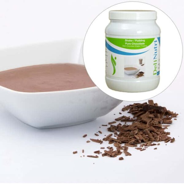 Delinutri Koolhydraatarme Pudding Pure Chocolade Voordeelpot