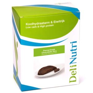 Delinutri Koolhydraatarme Pannenkoek Chocolade Xtra Doosje