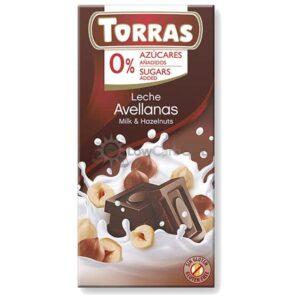 Suikervrije Chocoladetablet Melk Hazelnoot Torras