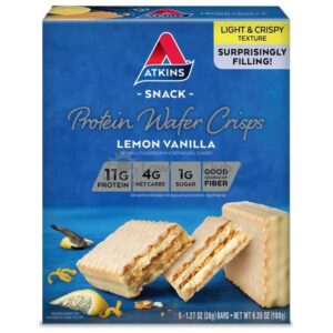 Atkins Usa Snack Wafer Lemon Doos