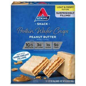 Atkins Usa Snack Wafer Peanut Butter Doos