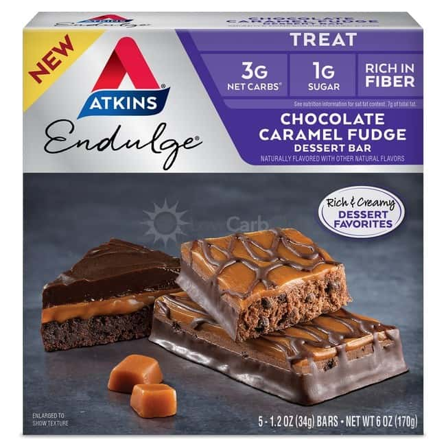 Atkins Usa Endulge Dessert Choc Car Fudge Doos