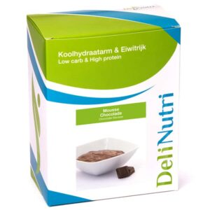 Delinutri Koolhydraatarme Mousse Chocolade Doosje