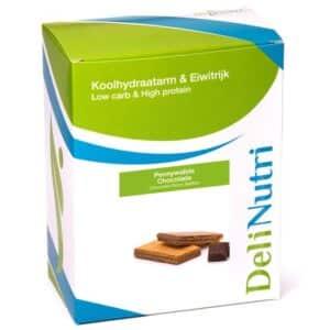Delinutri Koolhydraatarme Pennywafel Chocolade Doosje