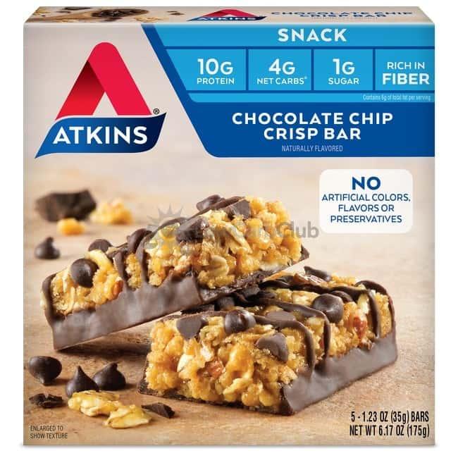 Atkins Usa Snack Chocolate Chip Crisp Doos